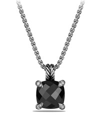 David Yurman 11Mm Chatelaine Faceted Pendant Necklace Onyx