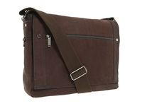Kenneth Cole Reaction Busi Mess Essentials Single Gusset Flapover Messenger Bag Brown Messenger Bags