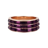 Aurora Baguette Ring Rose Gold