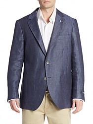 Tailorbyrd Regular Fit Herringbone Sportcoat Navy
