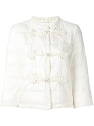 Ermanno Scervino Duffle Detailing Cropped Jacket White