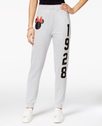 Disney Juniors' Minnie Mouse Graphic Sweatpants Heather Grey
