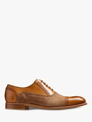 Barker Hampstead Two Tone Toecap Brogues Cedar Snuff