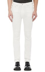 Ganryu Men's Zip Around Skinny Jeans White