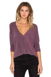 Nytt Cross Front Blouse Maroon