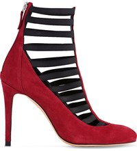 Lk Bennett Federica Caged Suede Court Shoes Pin Raspberry