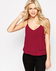 Oasis Double Layer Cami Rust