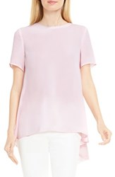 Vince Camuto Women's Lace Back High Low Blouse Pale Dahlia