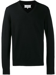 Maison Martin Margiela V Neck Jumper Black