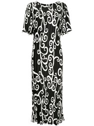 Romance Was Born Fortuny Vine Pearl Dress Black