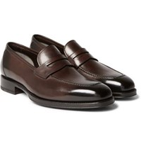 Tom Ford Wessex Leather Penny Loafers Brown