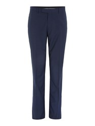 Howick Dalton Micro Check Suit Trousers Blue