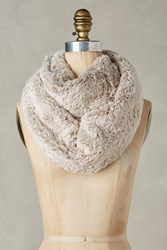 Anthropologie Faux Fur Infinity Scarf Beige