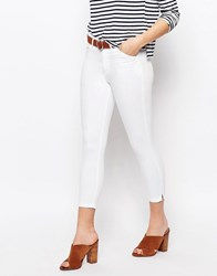 Oasis High Waist Crop Jean White