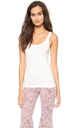 Free People Seamless Scoop Tank Ivory