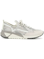Diesel S Kby Sneakers Polyester Cotton Leather Suede Grey