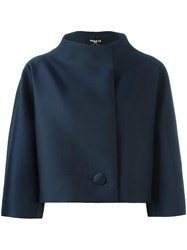 Paule Ka Funnel Neck Cropped Jacket Blue