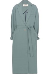 Zimmermann Adorn Twill Trench Coat Teal