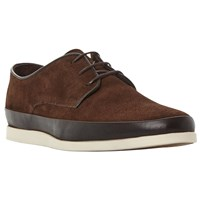 Bertie Breezy Contrast Rand Lace Up Shoes Brown Suede