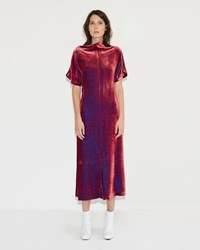 Aalto Long Fluid Dress Fuchsia