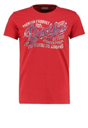 Petrol Industries Print Tshirt Fire Red Dark Blue