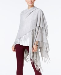 Charter Club Cashmere Fringe Wrap Cardigan Only At Macy's Heather Crystal