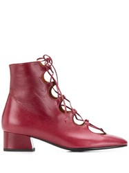 Michel Vivien Glory Boots Red