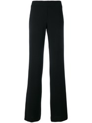 D.Exterior Flared Trousers Blue