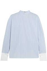 Balenciaga Striped Cotton Poplin Shirt