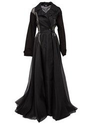 Yang Li Long Coat Dress Black
