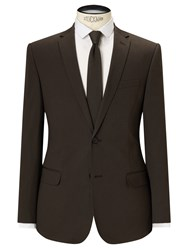 John Lewis Kin By Collet Stretch Cotton Slim Fit Suit Jacket Khaki