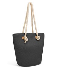 Magid Large Straw Tote Bag Black