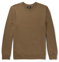 A.P.C. Slim Fit Loopback Cotton Jersey Sweatshirt Brown