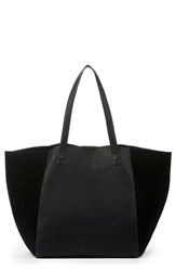 Sole Society Wesley Slouchy Suede Tote Black