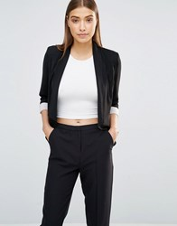 Ax Paris Waterfall Cropped Jacket Black