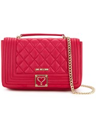 Love Moschino Quilted Shoulder Bag Women Polyurethane One Size Red