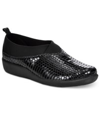 Clarks Collection Women's Cloud Steppers Sillian Greer Sneakers Women's Shoes Black Snake