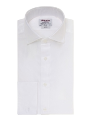 T.M.Lewin Luxury Plain Slim Fit Long Sleeve Formal Shirt White