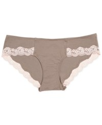 A Pea In The Pod Maternity Lace Trim Hipster Briefs Grey