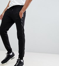 D Struct Tall Jogger With Satin Leg Stripe Black