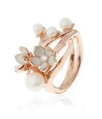 Shaun Leane Cherry Blossom Ring With Diamonds And Pearls Rose
