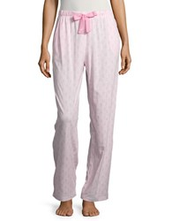 Nautica Leaf Print Pajama Pants Light Pink