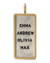 Silver And 14K Gold Uppercase 4 Name Id Tag Charm Heather Moore Silver Gold