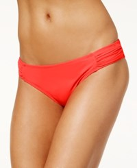 Sundazed Viva Ruched Hipster Bikini Bottoms Women's Swimsuit Coral