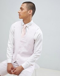 French Connection Wedding Linen Slim Fit Waistcoat Dusky Pink