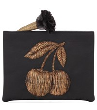 Sanayi 313 Ciliega Embroidered Pouch Black