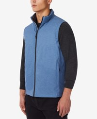 32 Degrees Water Resistant Down Vest Blue Melange