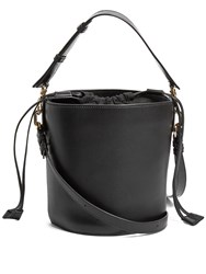 J.W.Anderson Bucket Leather And Canvas Tote Black