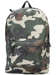 Wesc Chaz Camouflage Backpack Men Polyester One Size Green