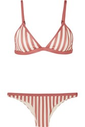 Haight Striped Triangle Bikini Antique Rose Gbp